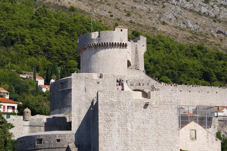 Fortress on Dubrovnik walls