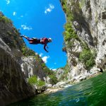 jump into the lake of Cetina river