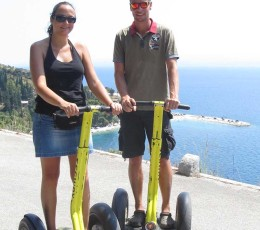 Segway Tour Split Kastelet Beach in the Back