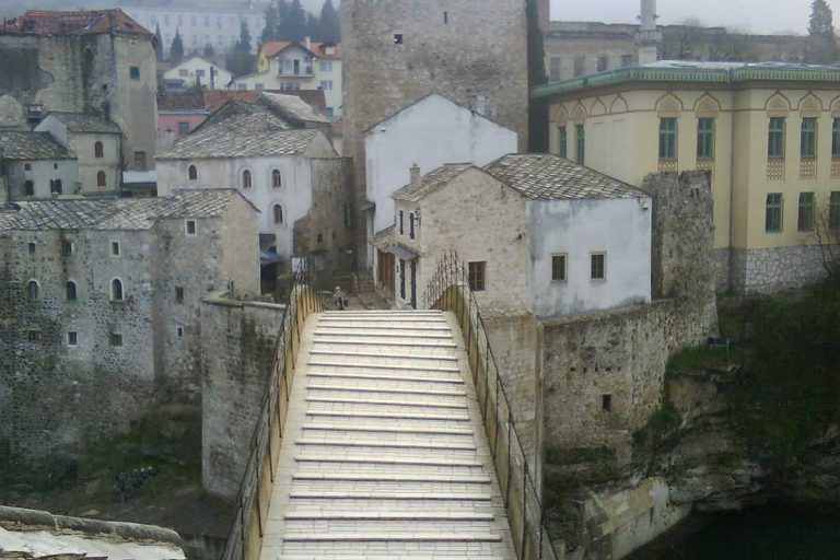 View of the old bridge Mostar