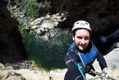 Selfie on the rock top of Cetina canyon