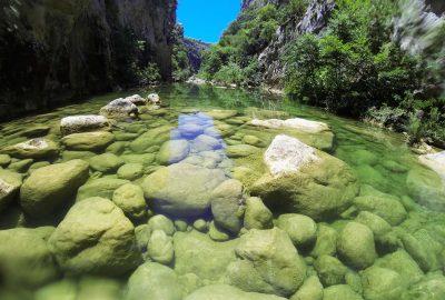Clean river of Cetina, Cetina canyon