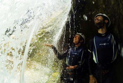 behind Cetina waterfall