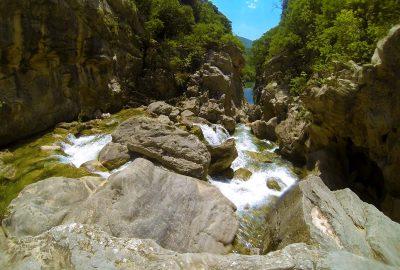 the trail through Cetina canyon