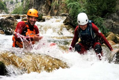 Enjoying the canyon of Cetina river