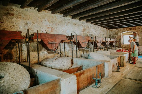 inside the mill on Skradinski buk