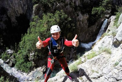 Abseiling by Cetina waterfall