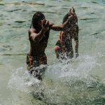 refreshing in cool krka lake