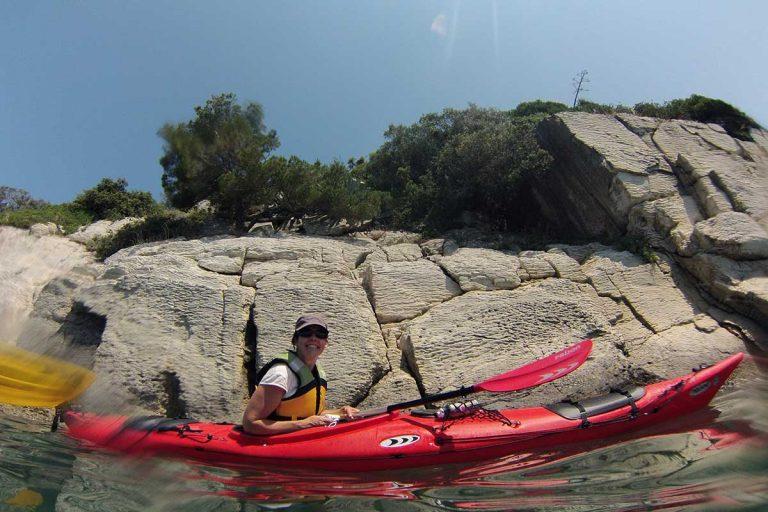 Enjoying sea kayaking in Split