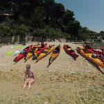 Kastelet beach in Split, point for sea kayaking tour in Split