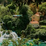 view on the watermill across Krka river