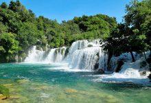 View at the Krka waterfalls