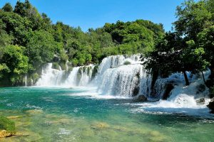 View at the Krka waterfalls