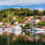 View of Skradin from boat