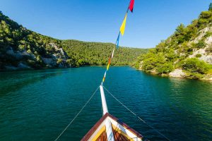 Boat cruise on Krka river