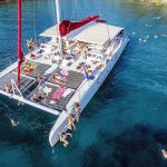 jumping-of-the-catamaran-into-clear-Adriatic-sea