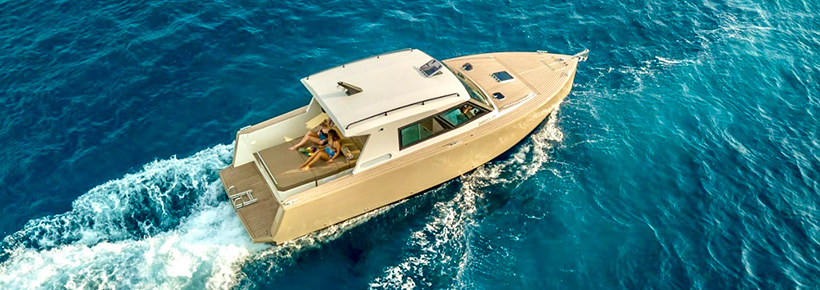 Our new speedboat for day trips to Split islands