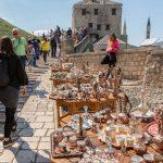street suveniers in Mostar by the bridge