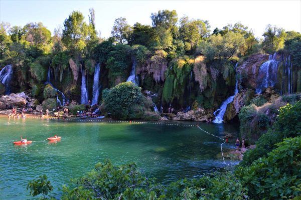 swimming by the waterfalls-Kravice-Bosnia and Herzegovina